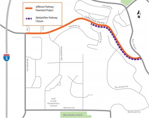 Jefferson Parkway Closure: Abelard to Kerr Parkway