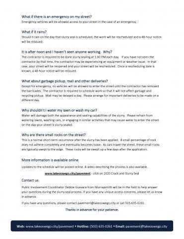 Slurry Seal FAQ Page 2