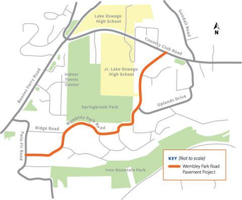 Wembley Park Road project map