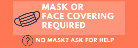 Masks Required at Outdoor Holds Pickup