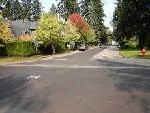 After paving at E Avenue and 8th Street