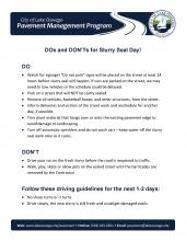 Slurry Seal Do's and Don'ts