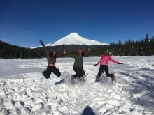 AWL Trillium Lake Snowshoe