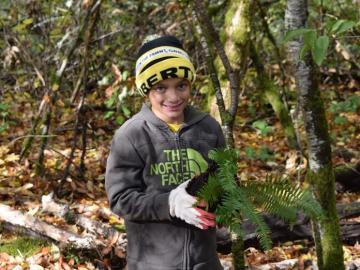 Boy Scout Planting