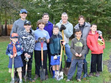 Boy Scouts Planting!