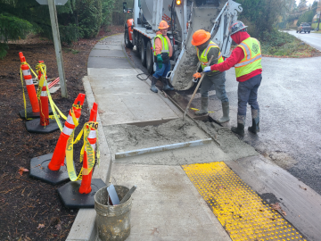 Curb Ramp Pouring