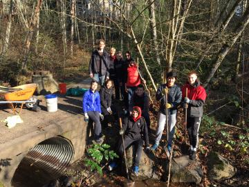 planting native species at Southwood Park