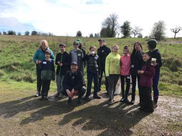 Planting Oak Trees at Luscher Farm