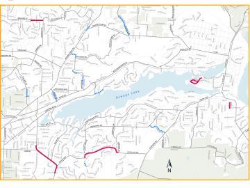 Lake Oswego Paving and Pavement Rehabilitation Map 2021
