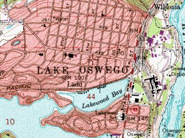 Lake Oswego Map