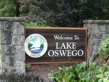 Lake Oswego Sign