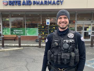 Officer Mayr at Rite-Aid