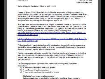 Radon Mitigation Document photo