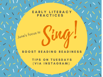 Singing is this month's early literacy focus