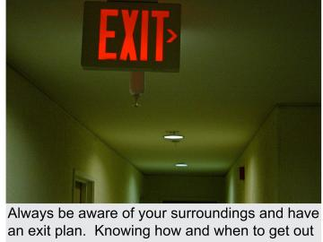 Knowing how to get out of a building is critical in an emergency situation