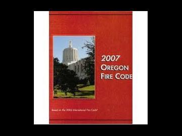 2007 Oregon Fire Code
