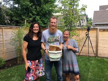 Nat Borchers with Jenny and Bonnie