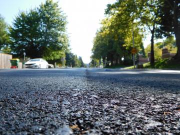 Up close pavement